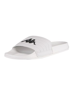 Kappa Matese Sliders - White/Black