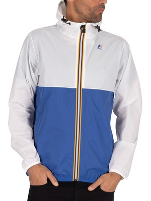 K-Way Le Vrai 3.0 Claude Bicolour Jacket - White/Blue Royal