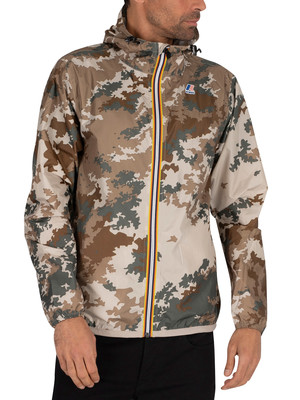 K-Way Le Vrai 3.0 Claude Graphic Jacket - Desert Camouflage