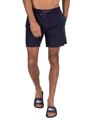 Lacoste Logo Swim Shorts - Navy