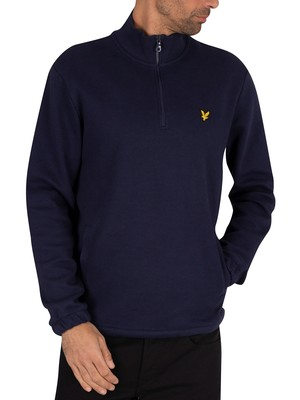 Lyle & Scott 1/4 Pique Sweatshirt - Navy