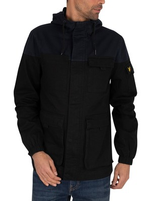 Lyle & Scott Contrast Yoke Jacket - Jet Black