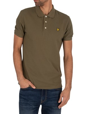 Lyle & Scott Logo Polo Shirt - Lichen Green