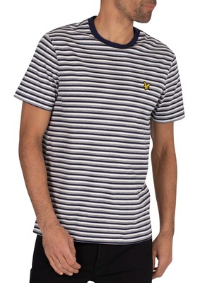 Lyle & Scott Stripe Ringer T-Shirt - Navy