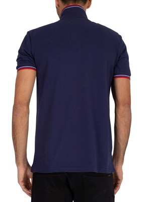 Lyle & Scott Tipped Polo Shirt - Navy/Gala Red