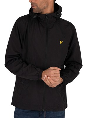 Lyle & Scott Zip Through Hooded Jacket - Jet Black