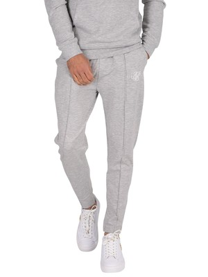 Sik Silk Smart Pleated Joggers - Grey Marl