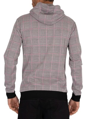Sik Silk Smart Pullover Hoodie - Grey/Pink Check