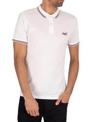 Superdry Classic Micro Lite Tipped Polo Shirt - Optic