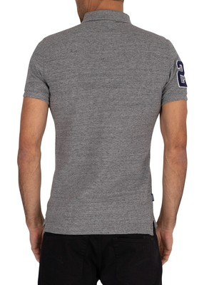 Superdry Classic Superstate Polo Shirt - Flint Grey Grit