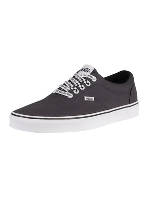 Vans Doheny Checker Lace Trainers - Asphalt/White