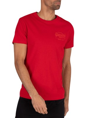 Superdry Premium Goods Tonal Injection T-Shirt - Rouge Red