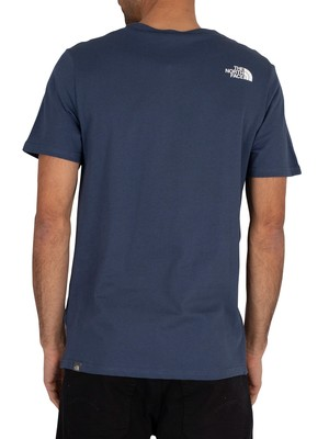 The North Face Easy T-Shirt - Blue Wing Teal