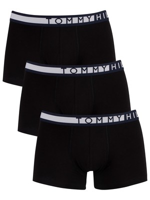 Tommy Hilfiger 3 Pack Trunks - Black