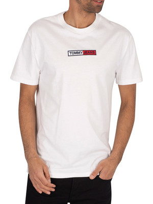 Tommy Jeans Embroidered Box Logo T-Shirt - White