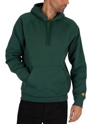 Carhartt WIP Chase Pullover Hoodie - Treehouse/Gold