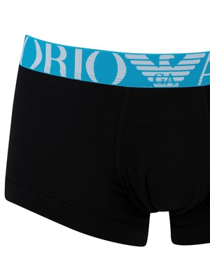 Emporio Armani 2 Pack Trunks - Black