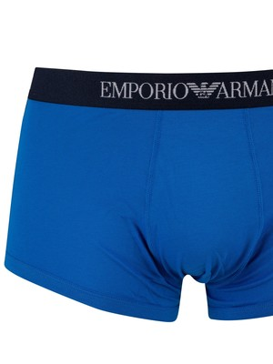 Emporio Armani 3 Pack Trunks - Blue/Navy/Red
