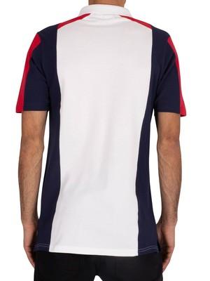 Fila Apache Archive Polo Shirt - White/Peacoat/Chinese Red