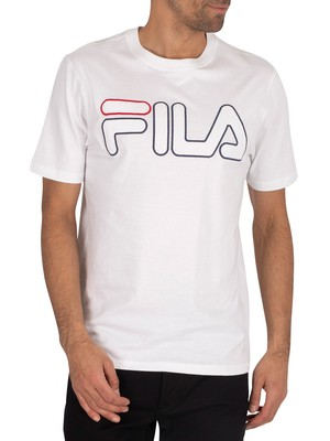 Fila Borough T-Shirt - White/Black/Red