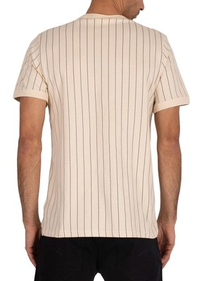 Fila Guilo Stripe T-Shirt - Tapioca/Peacoat