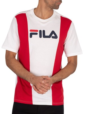 Fila Hercules Cut and Sew T-Shirt - White/Red/Peacoat