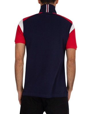 Fila Narco Polo Shirt - Peacoat/Red/White