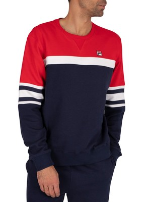 Fila Verus Sweatshirt - Peacoat/Red/White