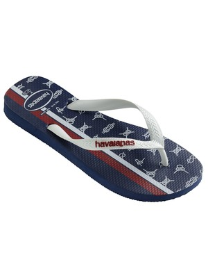 Havaianas Top Nautical Flip Flops - Navy Blue/White