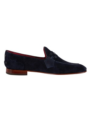 Jeffery West Martini Suede Loafers - Dark Blue Croste Suede