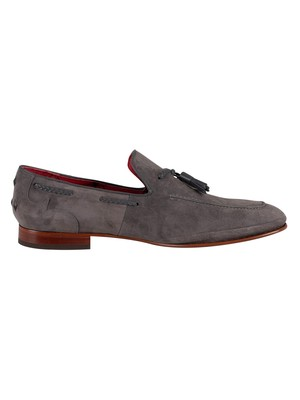 Jeffery West Martini Suede Tassel Loafers - Grey Coste