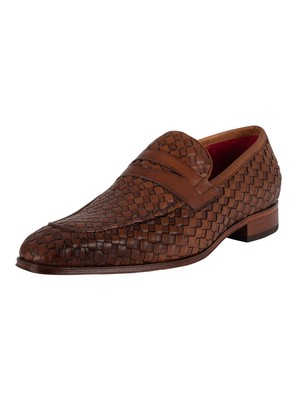 Jeffery West Soprano Leather Loafers - Castano Woven Leather