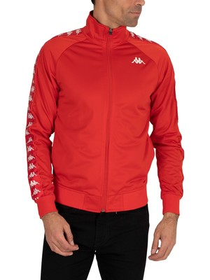Kappa 222 Banda Anniston Slim Fit Jacket - Red Blaze/White
