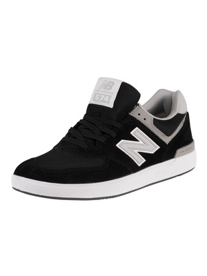 New Balance 574 All Coast Suede Trainers - Black/Grey