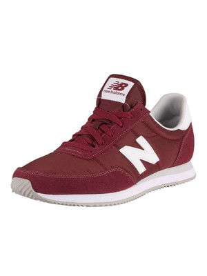 New Balance 720 Heritage Racing Trainers - Classic Burgundy/White