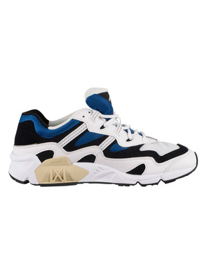 New Balance 850 Retro Leather Trainers - White/Classic Blue