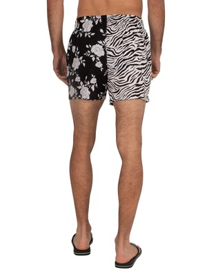 Religion Blitz Swim Shorts - Black/White