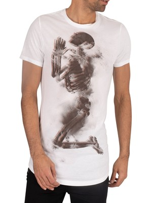 Religion Halftone Skeleton T-Shirt - White