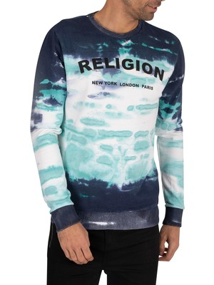 Religion Psycho Sweatshirt - Navy/Green