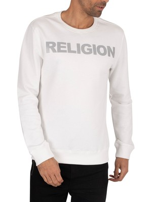 Religion Reflect Sweatshirt - White