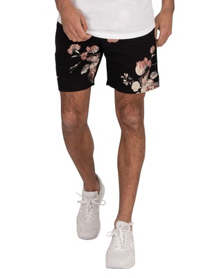 Religion Still Life Sweat Shorts - Black/White