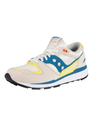 Saucony Azura Trainers - White/Blue/Yellow