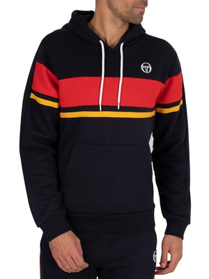 Sergio Tacchini Foshan Pullover Hoodie - Navy/Vintage Red
