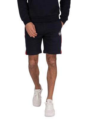 Sergio Tacchini Foujita Sweat Shorts - Navy/Vintage Red
