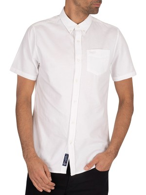 Superdry Classic University Oxford Shortsleeved Shirt - Optic