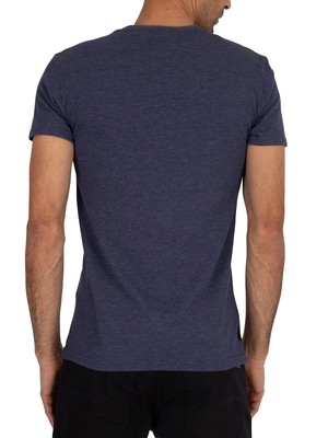 Superdry Core Faux Suede T-Shirt - Princedom Blue Marl
