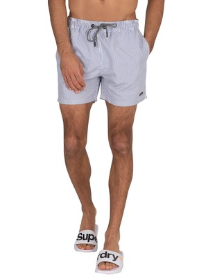 Superdry Packable Edit Swim Shorts - Blue Stripe