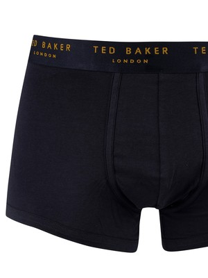 Ted Baker 3 Pack Trunks - Navy (Red/Blue/Yellow)