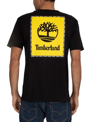 Timberland Box Graphic  T-Shirt - Black