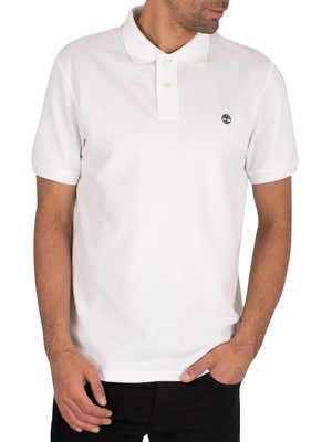 Timberland Branded Polo Shirt - White